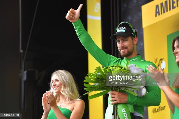 Podium / Peter Sagan of Slovakia and Team Bora Hansgrohe Green Sprint Jersey / Celebration / during the 105th Tour de France 2018, Stage 8 a 181km...