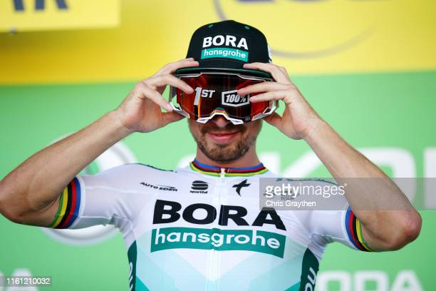 Podium / Peter Sagan of Slovakia and Team Bora-Hansgrohe / Celebration / during the 106th Tour de France 2019, Stage 5 a 175,5km stage from...