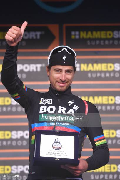 Podium / Peter Sagan of Slovakia Most Combative Rider Celebration / Champagne during the 53rd TirrenoAdriatico 2018 Stage 7 a 105km Individual Time...