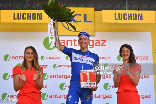Podium / Philippe Gilbert of Belgium and Team Quick-Step Floors Most Combative Rider / Crash / Injury / Celebration / during the 105th Tour de France...