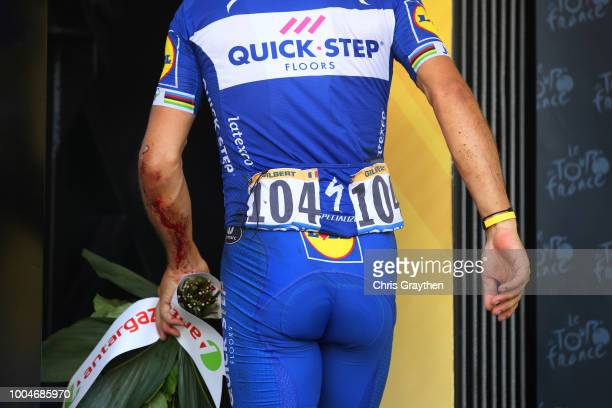 Podium / Philippe Gilbert of Belgium and Team Quick-Step Floors Most combative rider / Celebration / Injury / during the 105th Tour de France 2018,...