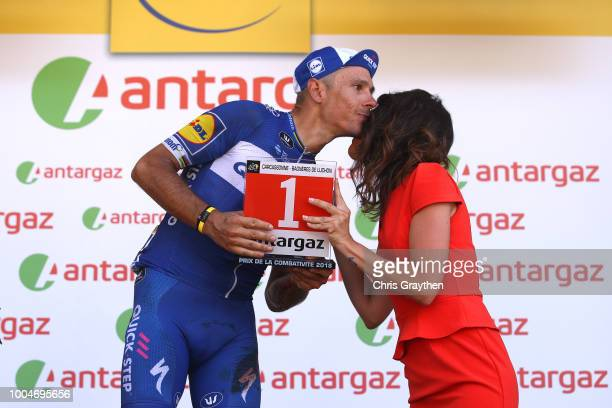Podium / Philippe Gilbert of Belgium and Team Quick-Step Floors Most combative rider / Celebration / during the 105th Tour de France 2018, Stage 16 a...