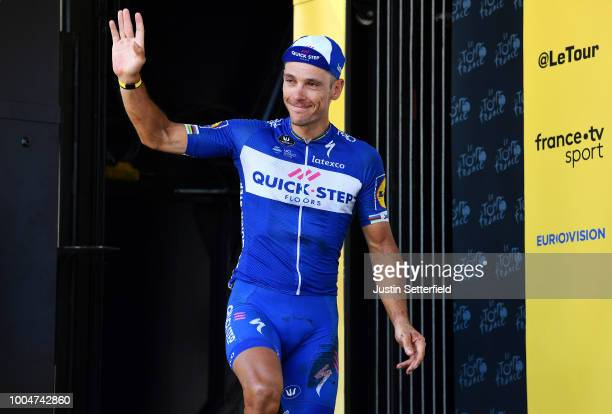 Podium / Philippe Gilbert of Belgium and Team QuickStep Floors Most combative rider / Celebration / during the 105th Tour de France 2018 Stage 16 a...