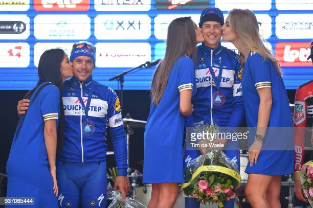 Podium / Philippe Gilbert of Belgium and Team Quick-Step Floors / Niki Terpstra of The Netherlands and Team Quick-Step Floors / Celebration during...