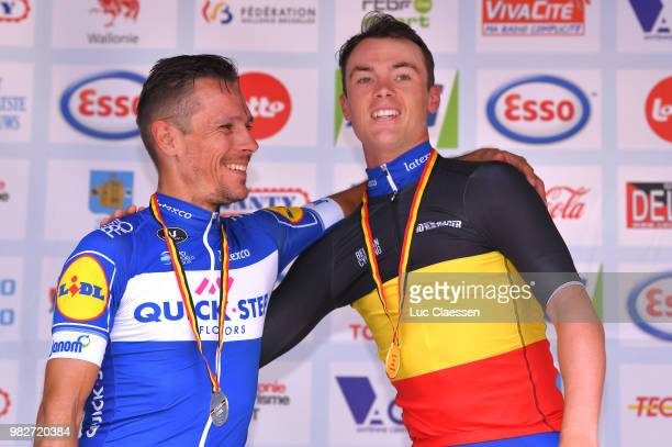 Podium / Philippe Gilbert of Belgium and Team Quick-Step Floors Silver Medal / Yves Lampaert of Belgium and Team Quick-Step Floors Gold Medal /...