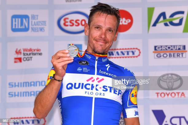 Podium / Philippe Gilbert of Belgium and Team Quick-Step Floors Silver Medal / Celebration / during the 119th Belgian Road Championship 2018, Elite...