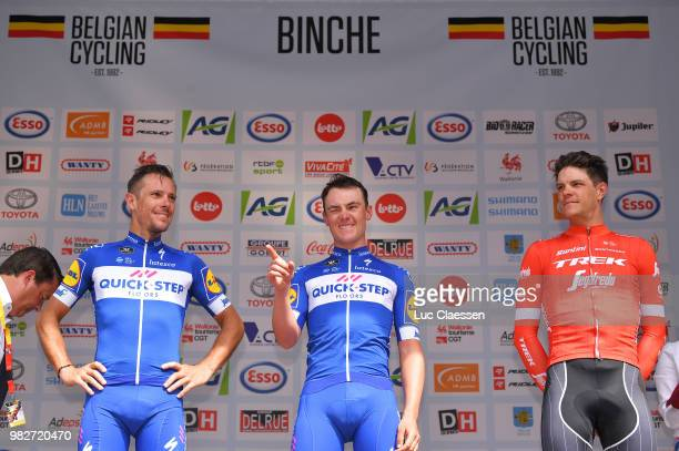Podium / Philippe Gilbert of Belgium and Team QuickStep Floors Silver Medal / Yves Lampaert of Belgium and Team QuickStep Floors Gold Medal / Jasper...