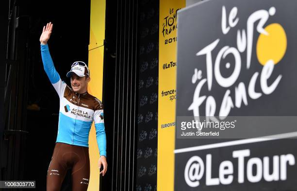 Podium / Pierre Latour of France and Team AG2R La Mondiale / Celebration / during the 105th Tour de France 2018, Stage 19 a 200,5km stage from...