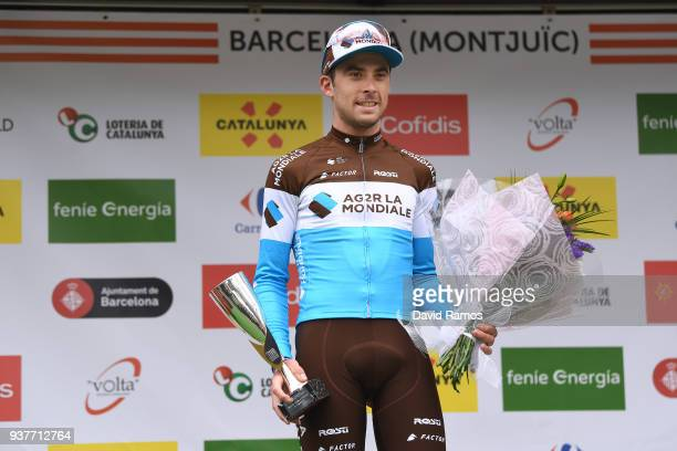 Podium / Pierre Latour of France and Team AG2R La Mondiale / Celebration / during the 98th Volta Ciclista a Catalunya 2018 Stage 7 a 1548km stage...
