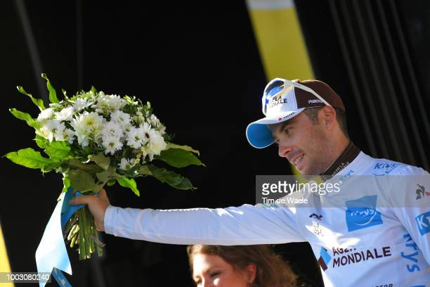 Podium / Pierre Latour of France and Team AG2R La Mondiale White Best Young Rider Jersey / Celebration / during the 105th Tour de France 2018 Stage...
