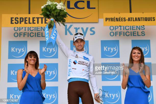 Podium / Pierre Latour of France and Team AG2R La Mondiale White Best Young Jersey / Celebration / during the 105th Tour de France 2018, Stage 20 a...