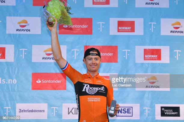 Podium / Pim Ligthart of The Netherlands and Team RoompotNederlandse Loterij / Celebration / during the 11th Tour des Fjords 2018 Stage 3 a 183km...