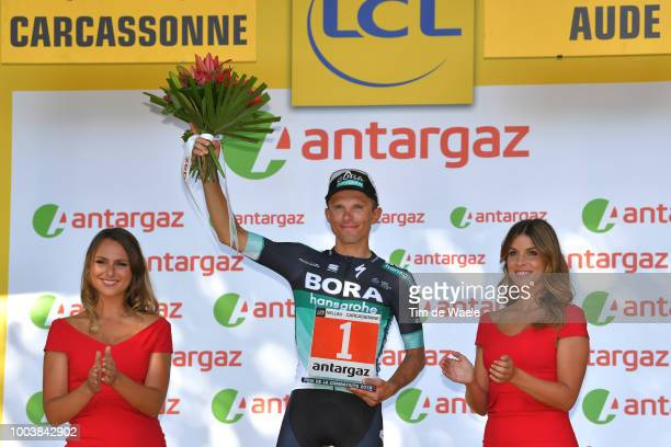 Podium / Rafal Majka of Poland and Team Bora Hansgrohe / Most Combative Rider / Celebration / during the 105th Tour de France 2018, Stage 15 a...
