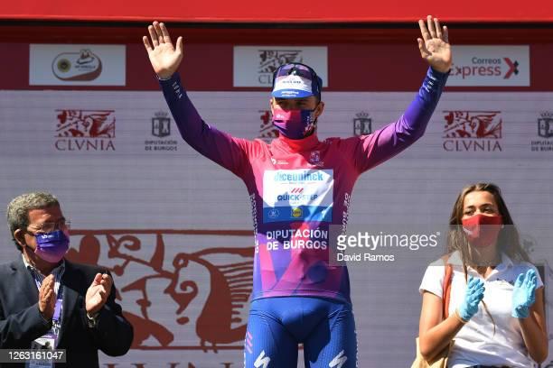 Podium / Remco Evenepoel of Belgium and Team Deceuninck - Quick-Step Purple Leader Jersey / Celebration / during the 42nd Vuelta a Burgos 2020, Stage...