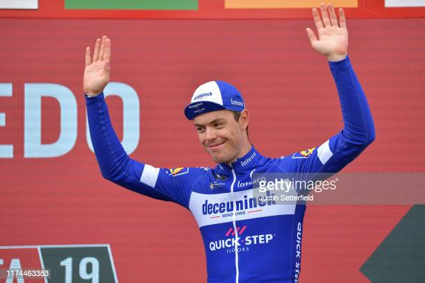 Podium / Remi Cavagna of France and Team DeceuninckQuickStep / Celebration / during the 74th Tour of Spain 2019 Stage 19 a 1652km stage from Ávila to...