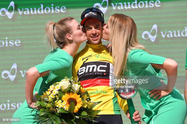 Podium / Richie Porte of Australia and BMC Racing Team Yellow Leader Jersey / Celebration / during the 82nd Tour of Switzerland 2018, Stage 8 a a...
