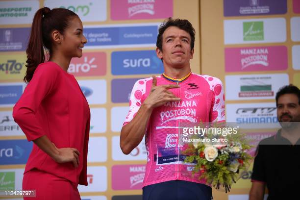 Podium / Rigoberto Urán of Colombia and EF Education First Pro Cycling Team Pink Mountain Jersey / Celebration / during the 2nd Tour of Colombia 2019...