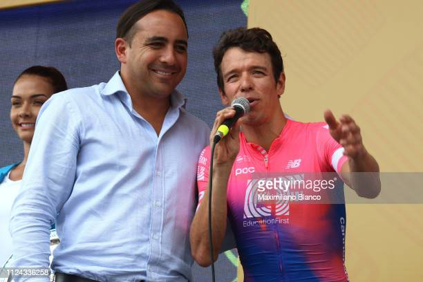 Podium / Rigoberto Urán of Colombia and EF Education First Pro Cycling Team / Celebration / during the 2nd Tour of Colombia 2019 Stage 1 a 144km Team...