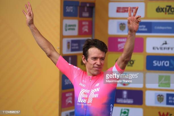 Podium / Rigoberto Urán of Colombia and EF Education First Pro Cycling Team / Celebration / during the 2nd Tour of Colombia 2019 Stage 3 a 1677km...