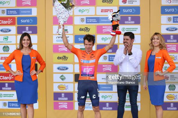 Podium / Rigoberto Urán of Colombia and EF Education First Pro Cycling Team Orange Leader Jersey / Celebration / during the 2nd Tour of Colombia 2019...