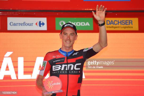 Podium / Rohan Dennis of Australia and BMC Racing Team / Celebration / during the 73rd Tour of Spain 2018 Stage 1 a 8km Individual Time Trial from...