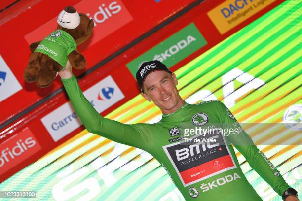 Podium / Rohan Dennis of Australia and BMC Racing Team Green Sprint Jersey / Celebration / during the 73rd Tour of Spain 2018, Stage 1 a 8km...