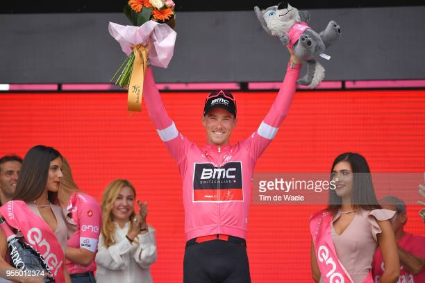 Podium / Rohan Dennis of Australia and BMC Racing Team Pink Leader Jersey / Celebration / during the 101th Tour of Italy 2018, Stage 2 a 167km stage...