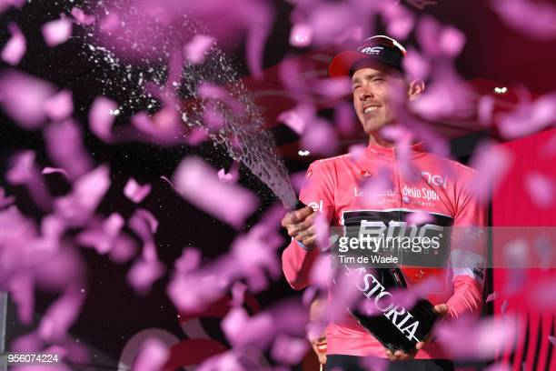 Podium / Rohan Dennis of Australia and BMC Racing Team Pink Leader Jersey / Celebration / Champagne / during the 101th Tour of Italy 2018, Stage 4 a...
