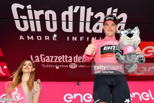 Podium / Rohan Dennis of Australia and BMC Racing Team Pink Leader Jersey / Celebration / during the 101th Tour of Italy 2018, Stage 5 a 153km stage...