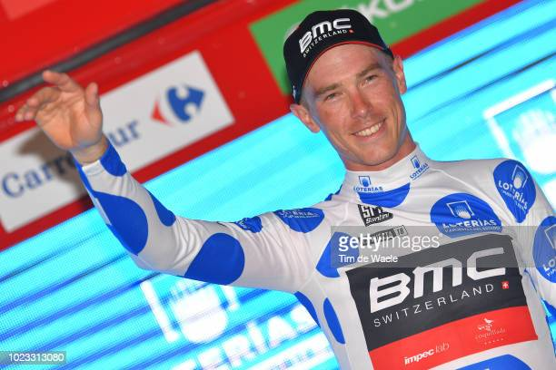 Podium / Rohan Dennis of Australia and BMC Racing Team Polka Dot Mountain Jersey / Celebration / during the 73rd Tour of Spain 2018, Stage 1 a 8km...