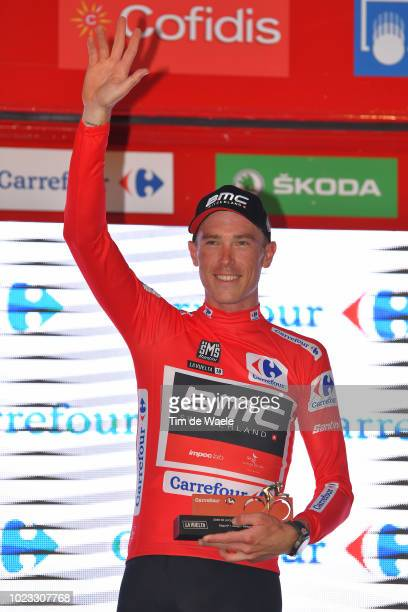 Podium / Rohan Dennis of Australia and BMC Racing Team Red Leader Jersey / Celebration / during the 73rd Tour of Spain 2018, Stage 1 a 8km Individual...