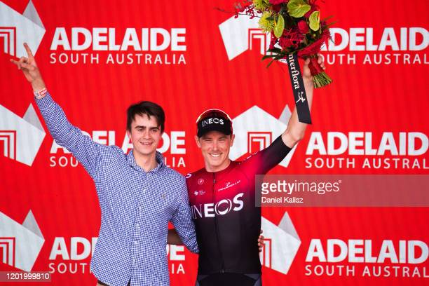 Podium / Rohan Dennis of Australia and Team INEOS Best Australian Rider / Celebration / during the 22nd Santos Tour Down Under 2020, Stage 6 a...