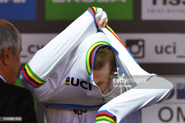 Podium / Rohan Dennis of Australia Gold Medal / Celebration / during the Men Elite Individual Time Trial a 525km race from Rattenberg to Innsbruck...