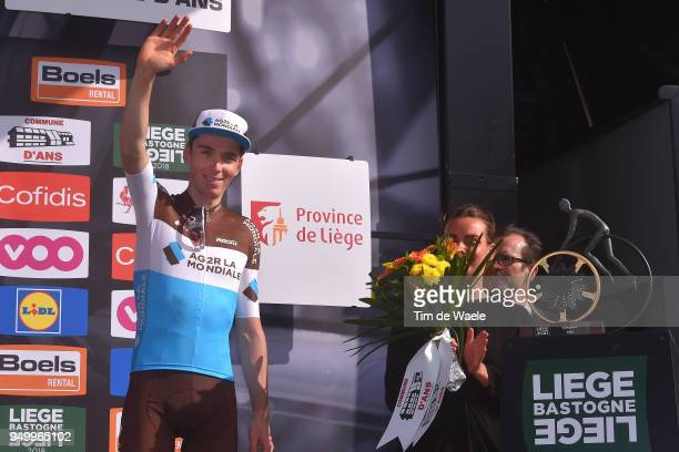 Podium / Romain Bardet of France and Team AG2R La Mondiale / during the104th LiegeBastogneLiege 2018 a 2585km race from Liege to LiegeAns on April 22...