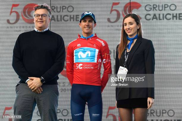 Podium / Ruben Fernandez of Spain and Movistar Team Red Mountain Jersey / Celebration / during the 39th Vuelta a Murcia 2019, Stage 1a 188,8km race...