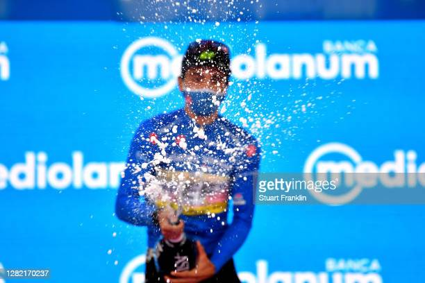 Podium / Ruben Guerreiro of Portugal and Team EF Pro Cycling Blue Mountain Jersey / Celebration / Champagne / during the 103rd Giro d'Italia 2020,...