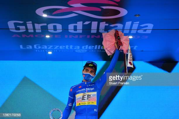 Podium / Ruben Guerreiro of Portugal and Team EF Pro Cycling Blue Mountain Jersey / Celebration / during the 103rd Giro d'Italia 2020, Stage 21 a...