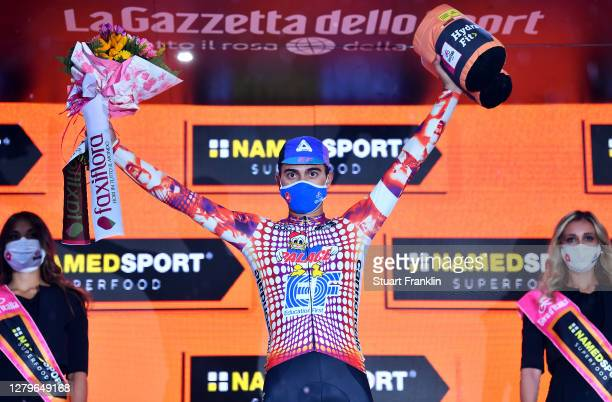 Podium / Ruben Guerreiro of Portugal and Team EF Pro Cycling / Celebration / during the 103rd Giro d'Italia 2020, Stage 9 a 207km stage from San...