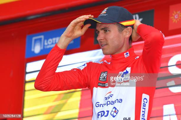 Podium / Rudy Molard of France and Team Groupama FDJ Red Leader Jersey / Celebration / Patrulla Aguila of Spain Cup / Air Patrol Cup / during the...