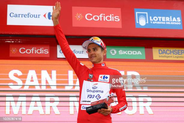 Podium / Rudy Molard of France and Team Groupama FDJ Red Leader Jersey / Celebration / during the 73rd Tour of Spain 2018, Stage 6 a 155,7km stage...