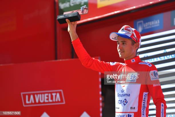 Podium / Rudy Molard of France and Team Groupama FDJ Red Leader Jersey / Celebration / during the 73rd Tour of Spain 2018, Stage 7 a 185,7km stage...