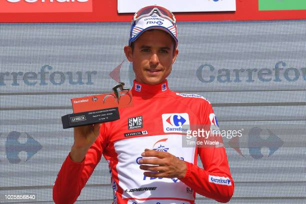 Podium / Rudy Molard of France and Team Groupama FDJ Red Leader Jersey / Celebration / during the 73rd Tour of Spain 2018 / Stage 8 a 195,1km stage...