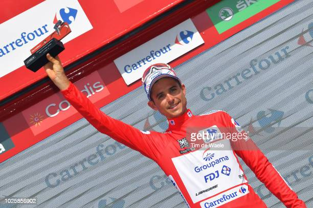 Podium / Rudy Molard of France and Team Groupama FDJ Red Leader Jersey / Celebration / during the 73rd Tour of Spain 2018 / Stage 8 a 1951km stage...