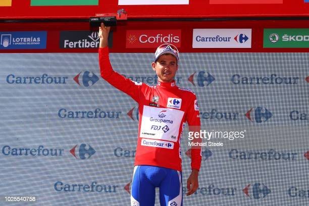 Podium / Rudy Molard of France and Team Groupama FDJ Red Leaders Jersey / Celebration / during the 73rd Tour of Spain 2018 Stage 7 a 1857km stage...