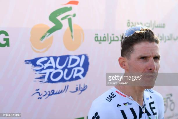 Podium / Rui Costa of Portugal and UAE Team Emirates / Celebration / during the 1st Saudi Tour 2020, Stage 1 a 173km stage from Saudi Arabian Olympic...
