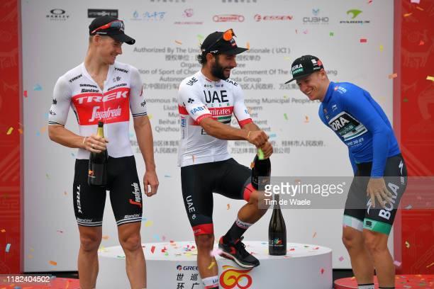 Podium / Ryan Mullen of Ireland and Team Trek-Segafredo / Fernando Gaviria of Colombia and UAE - Team Emirates / Pascal Ackermann of Germany and Team...