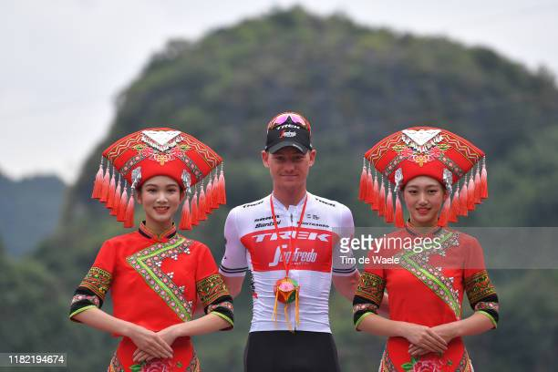 Podium / Ryan Mullen of Ireland and Team Trek-Segafredo Most Aggressive Rider / Celebration / Miss / Hostess / during the 3rd Tour Of Guangxi 2019 -...