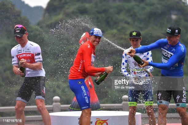 Podium / Ryan Mullen of Ireland and Team Trek-Segafredo Most Aggressive Rider / Enric Mas Nicolau of Spain and Team Deceuninck - Quick-Step Red...