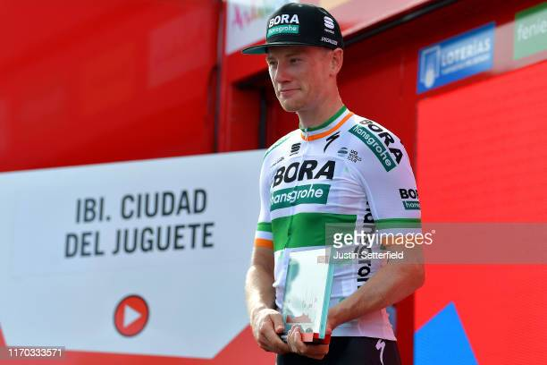 Podium / Sam Bennett of Ireland and Team Bora-Hansgrohe / Celebration / Trophy / during the 74th Tour of Spain 2019, Stage 3 a 188km stage from Ibi....