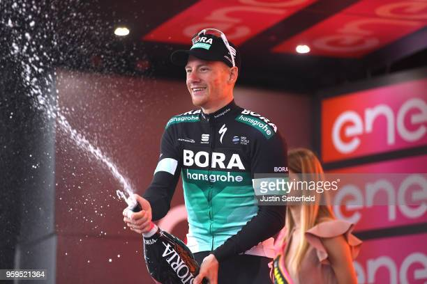 Podium / Sam Bennett of Ireland and Team Bora-Hansgrohe / Celebration / Champagne / during the 101st Tour of Italy 2018, Stage 12 a 214km stage from...